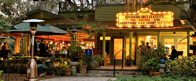 Just 10 minutes from Downtown Orlando, this beautiful vintage dinner theatre shows art house & Indie flicks.