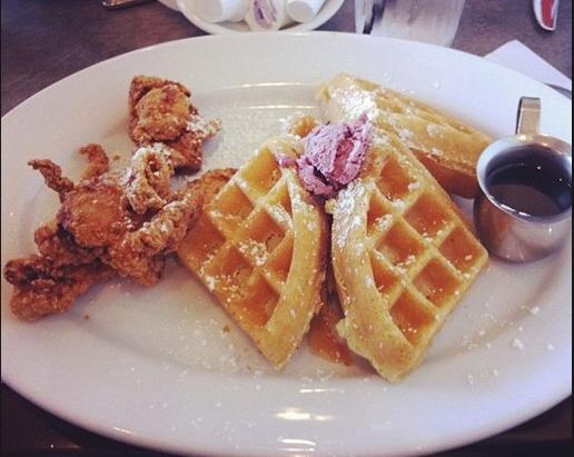 Chicken and Waffles - Peach Valley Cafe - OrlandoHipster.com - Best Brunch Orlando